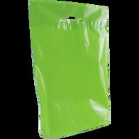 Lime Medium Eco-Friendly Die Cut Plastic Bag Thumb