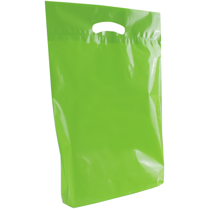 Lime Medium Eco-Friendly Die Cut Plastic Bag