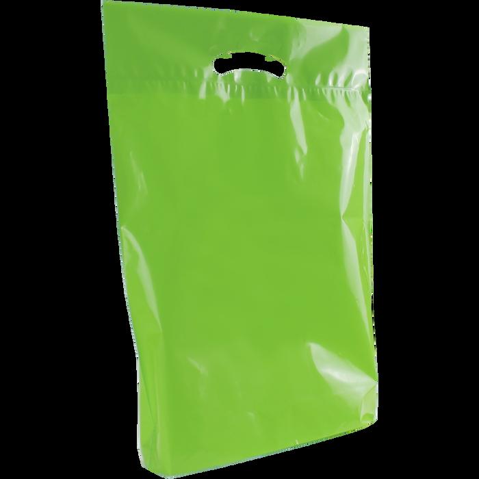 Lime Medium Eco-Friendly Die Cut Plastic Bag