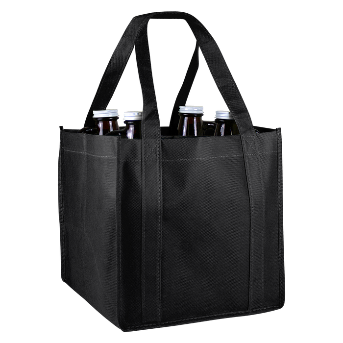 Black 4 Bottle Growler Tote