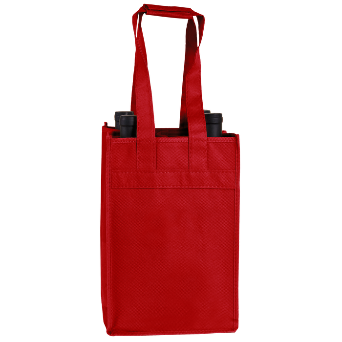Red 4 Bottle Wine Tote