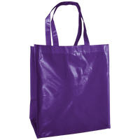 Purple Laminated Big Storm Grocery Bag Thumb