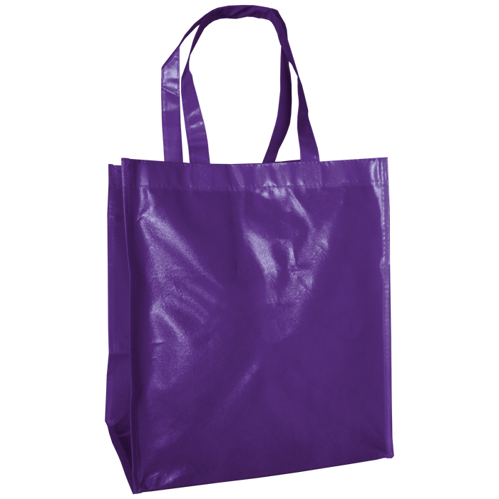 Purple Laminated Big Storm Grocery Bag