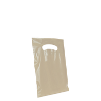 Ivory Extra Small Eco-friendly Die Cut Plastic bag Thumb