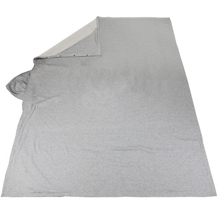 Athletic Gray Fleece Poncho Blanket