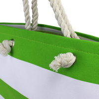 Marina Striped Beach Tote Thumb