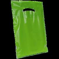 Lime Extra Small Eco-friendly Die Cut Plastic bag Thumb