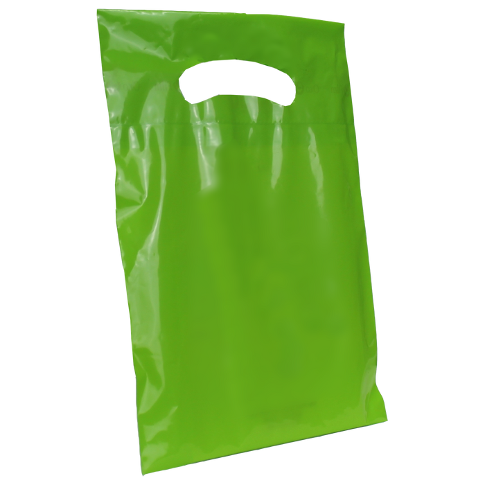 Lime Extra Small Eco-friendly Die Cut Plastic bag