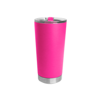 Neon Pink Small Stainless Steel Insulated Tumbler Thumb
